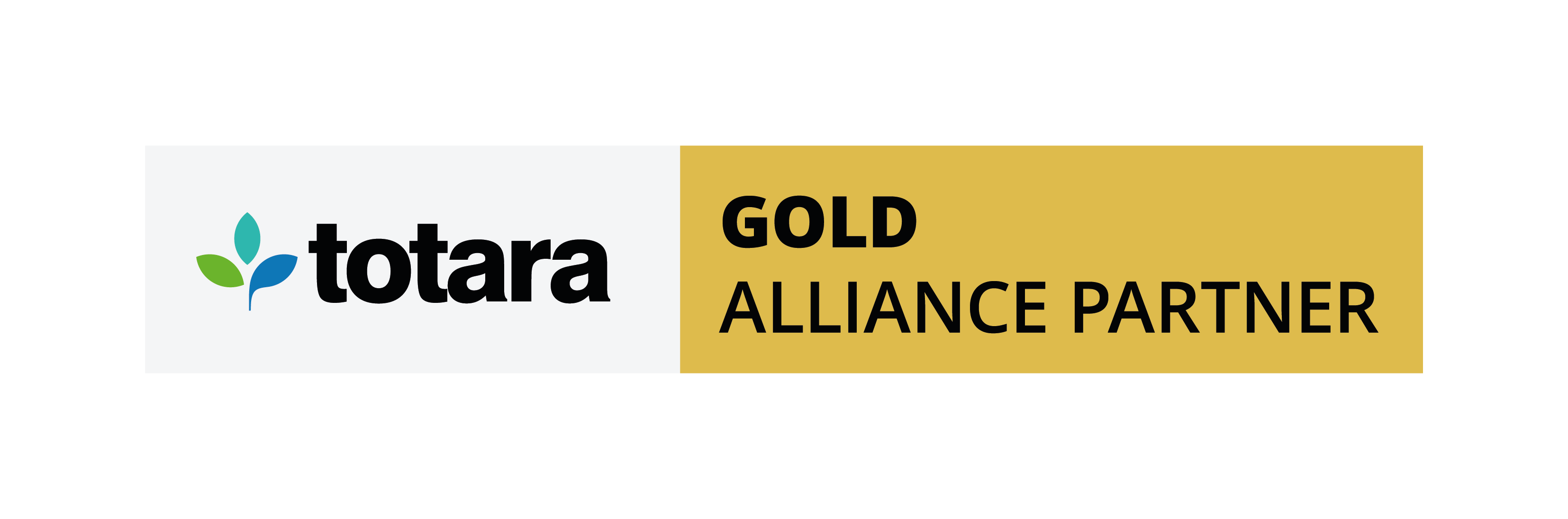 Totara Alliance Partner Status Logo Landscape Gold